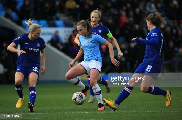 Manchester City's Georgia Stanway in action during the Barclays FA Women's Super League match between Manchester City and Chelsea at The Academy...