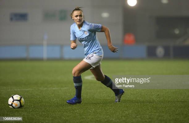Manchester City's Georgia Stanway in action during the Continental Cup match between Manchester City Women v Sheffield United at Manchester City...