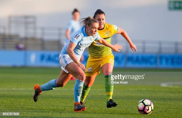 Manchester City's Georgia Stanway in action during the FA WSL match between Manchester City Women and Yeovil Town Ladies at The Academy Stadium on...
