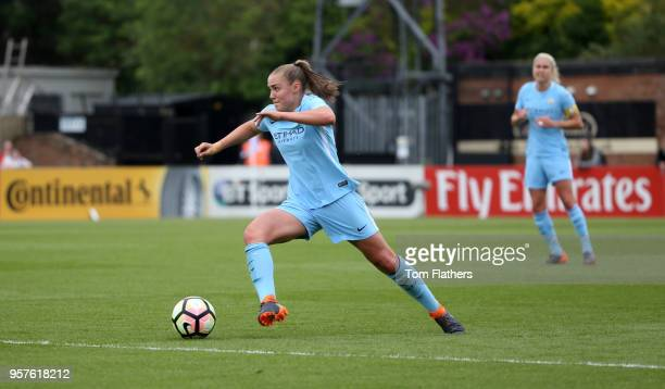 Manchester City's Georgia Stanway in action during the WLS match between Arsenal Ladies and Manchester City Women on May 12 2018 in Sunderland England