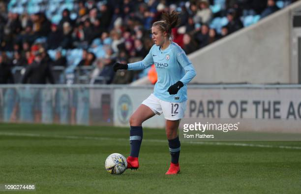 Manchester City's Georgia Stanway in action during the WSL match between Manchester City Women and Brighton and Hove Albion Women at Manchester City...