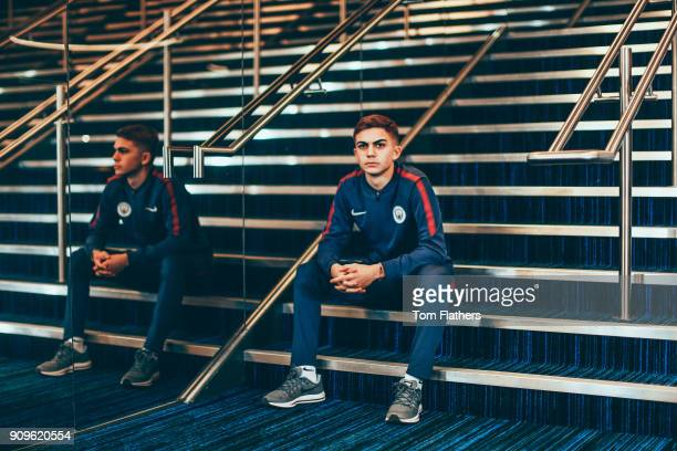 Manchester City's Iker Pozo at Etihad Stadium on November 24 2017 in Manchester England