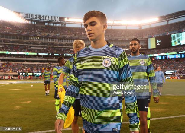 Manchester City's Iker Pozo in action at MetLife Stadium on July 25 2018 in East Rutherford New Jersey