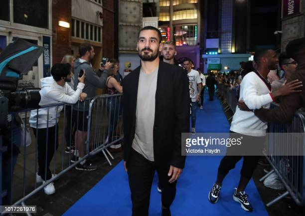 Manchester City's Ilkay Gundogan arrives at The Printworks on August 15 2018 in Manchester England