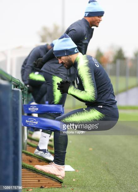 Manchester City's Ilkay Gundogan in action at Manchester City Football Academy on November 8 2018 in Manchester England