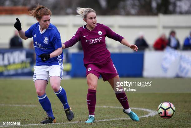 Manchester City's in Izzy Christiansen in action during the SEE Women's FA Cup Fifth Round Match between Birmingham City Ladies and Manchester City...