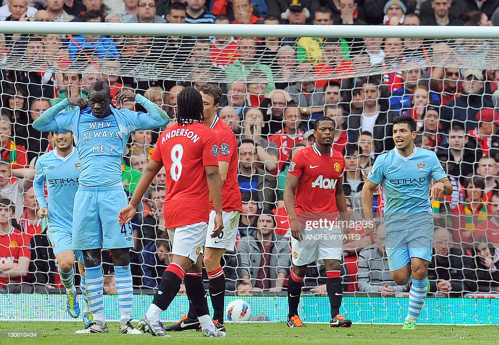 Manchester City's Italian striker Mario : News Photo