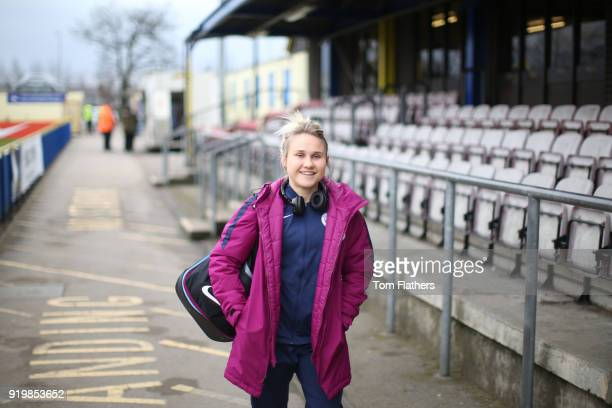 Manchester City's Izzy Christiansen arrives ahead of the SEE Women's FA Cup Fifth Round Match between Birmingham City Ladies and Manchester City...
