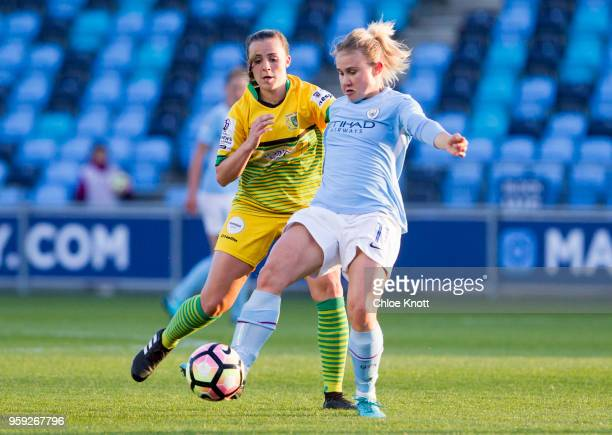 Manchester City's Izzy Christiansen in action during the FA WSL match between Manchester City Women and Yeovil Town Ladies at The Academy Stadium on...
