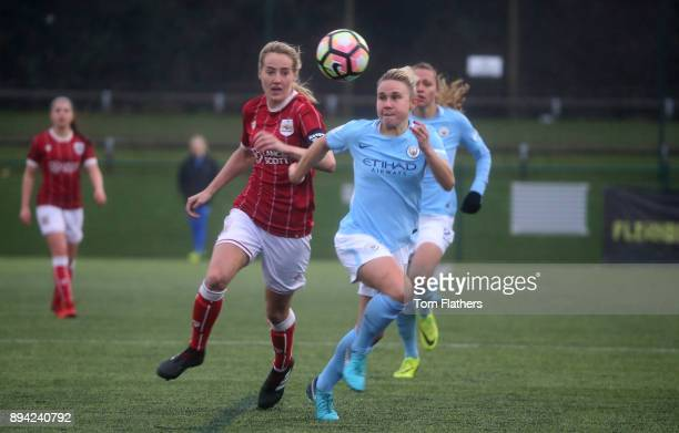 Manchester City's Izzy Christiansen in action during the FA WSL Continental Tyres Cup Quarter Final between Bristol City Ladies and Manchester City...