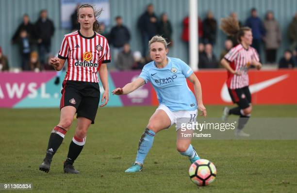 Manchester City's Izzy Christiansen in action during the WSL match between Sunderland AFC Ladies and Manchester City Women on January 28 2018 in...