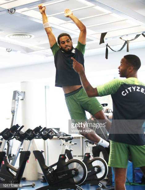 Manchester City's Jason Denayer during training in the gym at Manchester City Football Academy on August 15 2018 in Manchester England