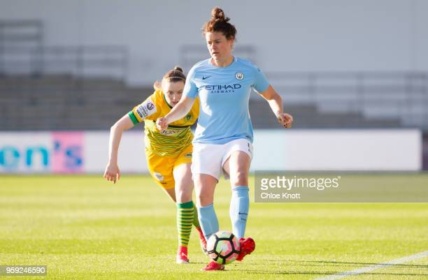 Manchester City's Jennifer Beatie in action during the FA WSL match between Manchester City Women and Yeovil Town Ladies at The Academy Stadium on...