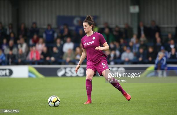 Manchester City's Jennifer Beatie in action during the Women's FA Cup Semi Final between Chelsea Ladies and Manchester City Women at The Cherry Red...