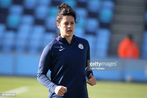 Manchester City's Jennifer Beattie in action ahead of the WSL 1 match between Manchester City Women and Chelsea Ladies at Manchester City Football...