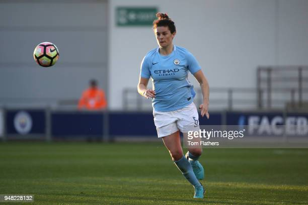 Manchester City's Jennifer Beattie in action during the WSL fixture between Manchester City Women and Sunderland Ladies at The Academy Stadium on...
