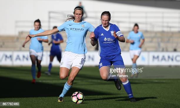 Manchester City's Jill Scott in action during the WSL 1 match between Manchester City Women and Birmingham City Ladies at Manchester City Football...