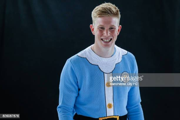 Manchester City's Kevin De Bruyne attending the official Manchester City christmas Jumper shoot of 2016