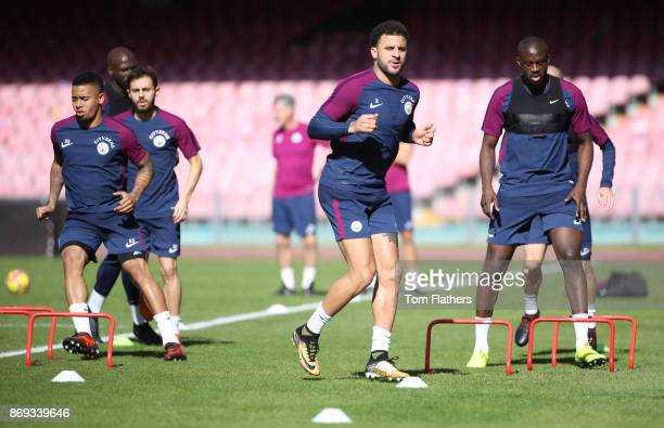 Manchester City's Kyle Walker during training at Stadio San Paolo on November 2 2017 in Naples Italy