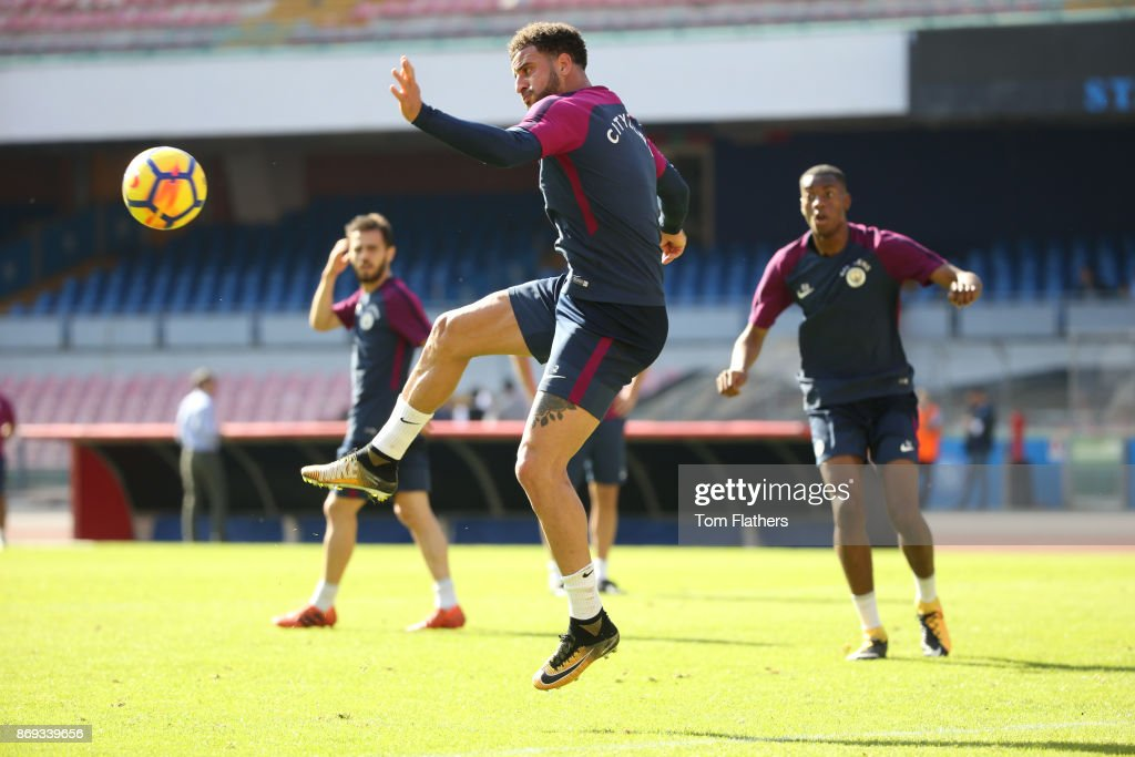 Manchester City's Kyle Walker during training at Stadio San Paolo on November 2, 2017 in Naples, Italy.