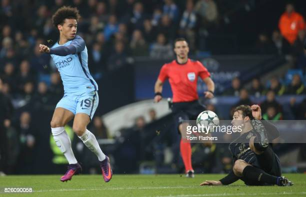 Manchester City's Leroy Sane in action against Celtic's Erik Sviatchenko
