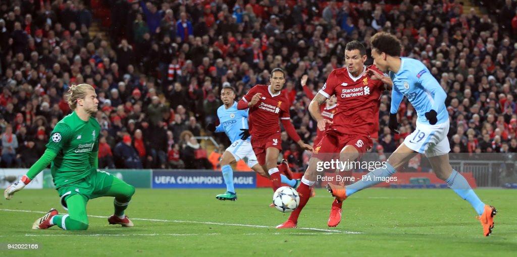 Liverpool v Manchester City - UEFA Champions League - Quarter Final - First Leg - Anfield : News Photo