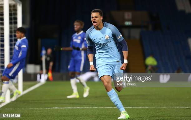 Manchester City's Lukas Nmecha celebrates scoring in the FA Youth Cup Final against Chelsea A78Q8733jpg