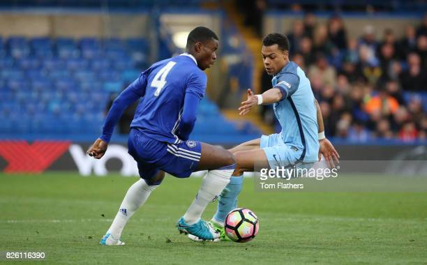 Manchester City's Lukas Nmecha in the FA Youth Cup Final against Chelsea