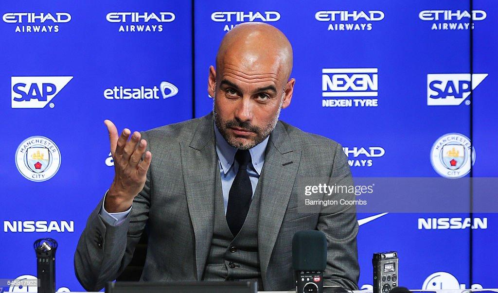 Pep Guardiola Press Conference : News Photo