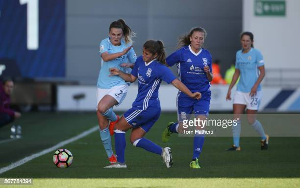 Manchester City's Mel Lawley in action during the WSL 1 match between Manchester City Women and Birmingham City Ladies at Manchester City Football...