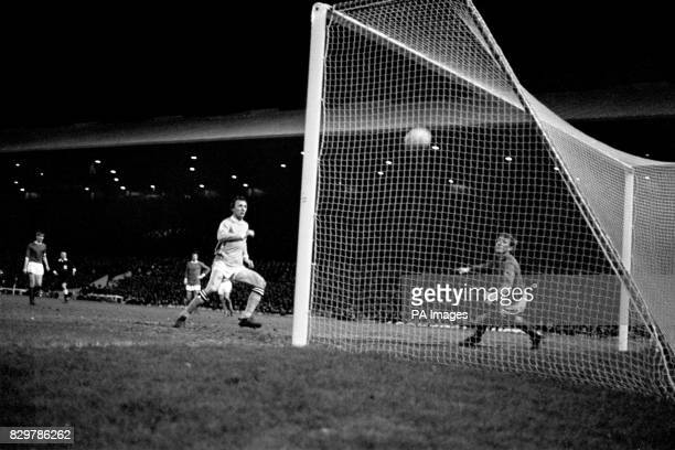 Manchester City's Mike Summerbee scores the winning goal past Manchester United goalkeeper Alex Stepney