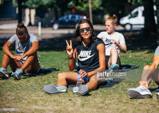 Manchester City's Nadia Nadia during training on July 22 2018 in Portland United States