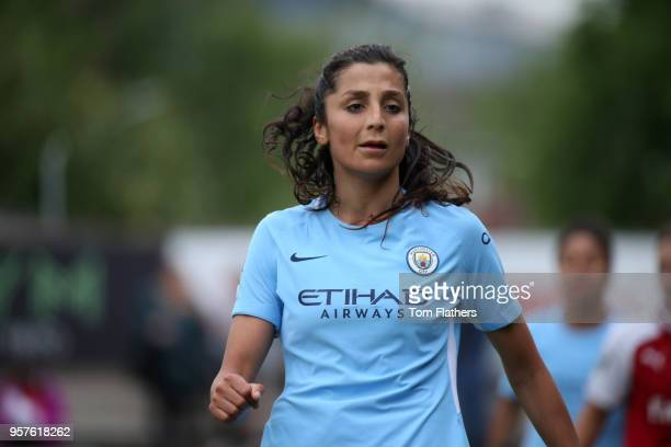 Manchester City's Nadia Nadim in action during the WLS match between Arsenal Ladies and Manchester City Women on May 12 2018 in Sunderland England