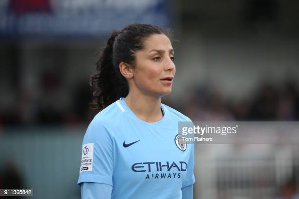 Manchester City's Nadia Nadim in action during the WSL match between Sunderland AFC Ladies and Manchester City Women on January 28 2018 in Sunderland...