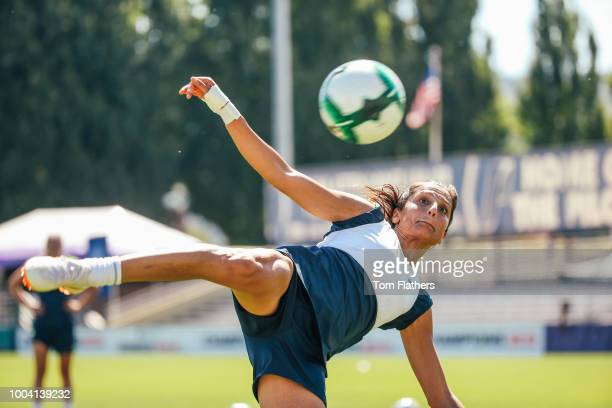 Manchester City's Steph Houghton during training on July 22 2018 in Portland United States