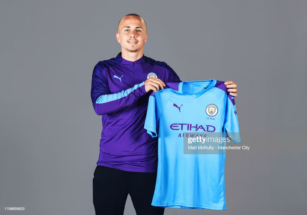 Manchester City Unveil New Signing Angelino : News Photo