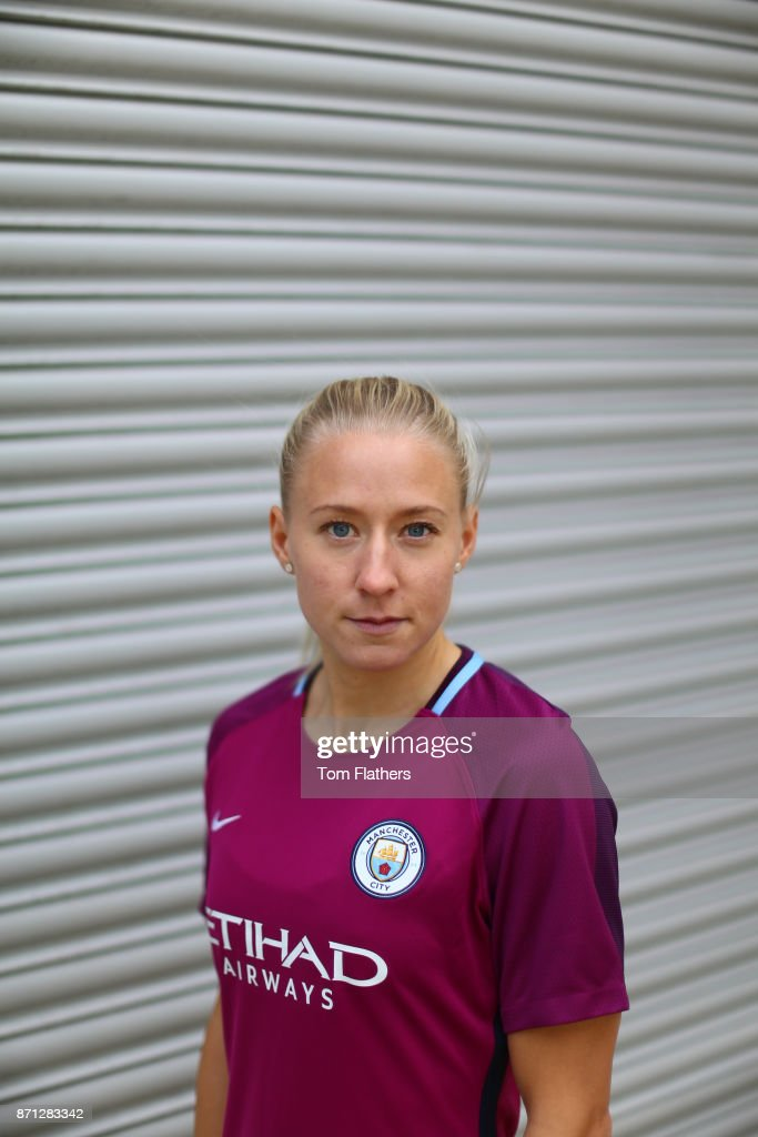 Manchester City's new signing Julia Spetsmark at Manchester City Football Academy on November 6, 2017 in Manchester, England.
