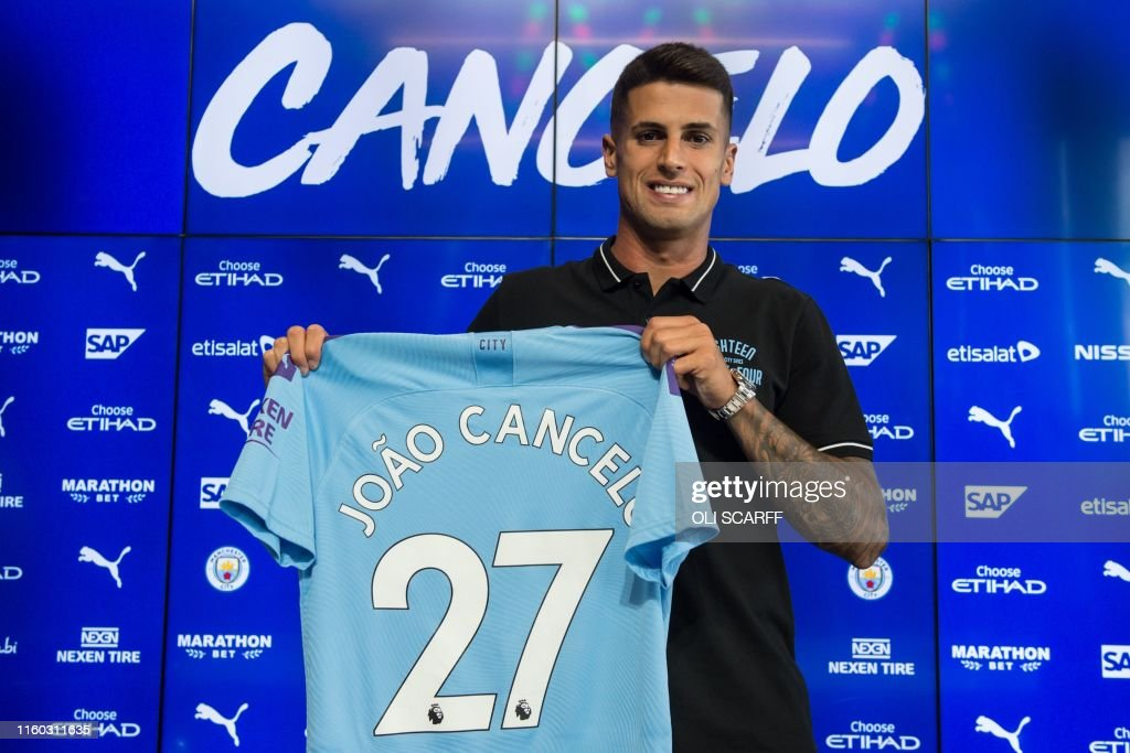 FBL-ENG-PR-MAN CITY-CANCELO : News Photo