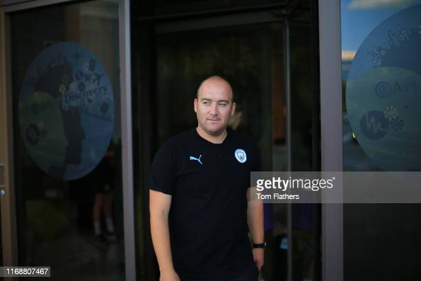 Manchester City's Nick Cushing arrives ahead of the 2019 Women's International Champions Cup match between Atletico de Madrid Femenino and Manchester...