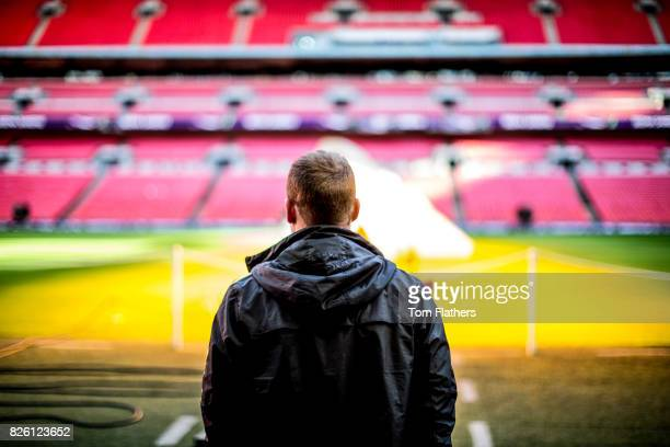 Manchester City's Nick Cushing at Wembley ahead of the FA Cup Final
