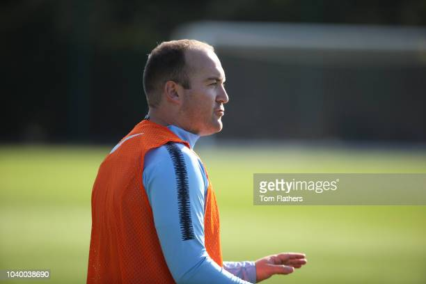 Manchester City's Nick Cushing during training at Manchester City Football Academy on September 25 2018 in Manchester England