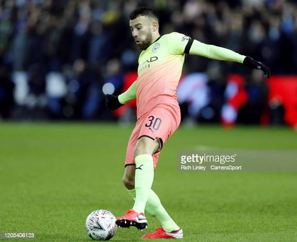 Manchester City's Nicolas Otamendi during the FA Cup Fifth Round match between Sheffield Wednesday and Manchester City at Hillsborough on March 4...