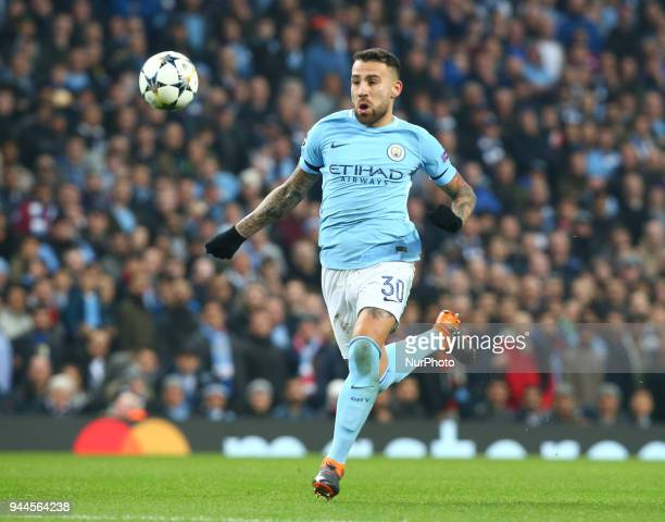 Manchester City's Nicolas Otamendi during the UEFA Champions League Quarter Final Second Leg match between Manchester City and Liverpool at Etihad...
