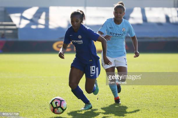 Manchester City's Nikita Parris in action during the WSL 1 match between Manchester City Women and Chelsea Ladies at Manchester City Football Academy...