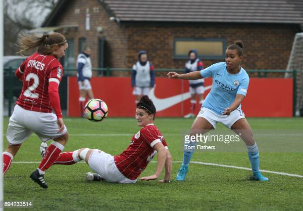 Manchester City's Nikita Parrisin action during the FA WSL Continental Tyres Cup Quarter Final between Bristol City Ladies and Manchester City Women...