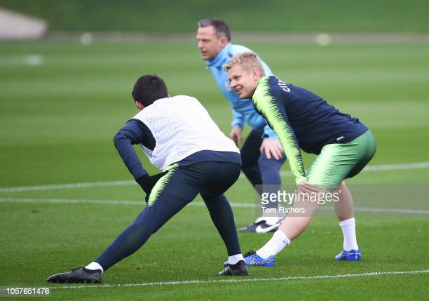 Manchester City's Oleksandr Zinchenko during the training session at Manchester City Football Academy on November 5 2018 in Manchester England