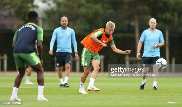 Manchester City's Oleksandr Zinchenko during training at Manchester City Football Academy on July 16 2018 in Manchester England