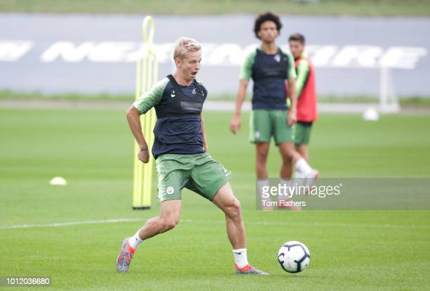 Manchester City's Oleksandr Zinchenko during training at Manchester City Football Academy on August 6 2018 in Manchester England