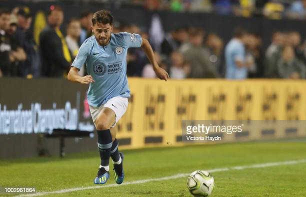 Manchester City's Patrick Roberts in action at Soldier Field on July 20 2018 in Chicago Illinois