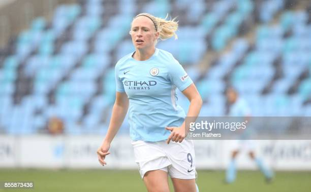 Manchester City's Pauline Bremer in action during the WSL 1 match between Manchester City Women and Arsenal Ladies at Manchester City Football...